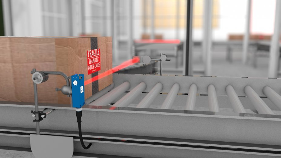 wenglor sensoric - PNG//smart - Retro-Reflex Sensors Work With Red Light at Conveyor Belts